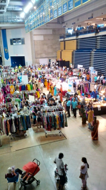 A snap of the Bazaar at IndiaFest 2015